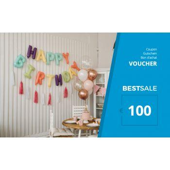 BestSale Shop Voucher €25 – €500 / Birthday Balloon