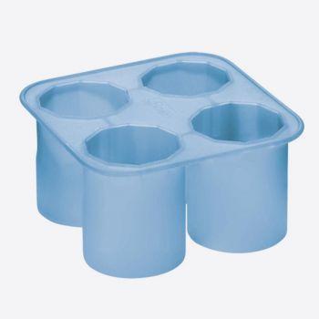 Lurch ijsblokjesvorm borrelglas ijsblauw 5x5x6.5cm