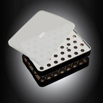 Lurch ijsblokjesvorm uit silicone voor ijsparels met deksel zwart ø 2cm