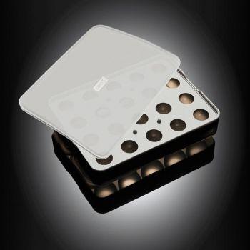 Lurch ijsblokjesvorm uit silicone voor ijsballen met deksel zwart ø 3cm