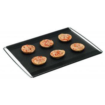 Bakeflon Brood-/afbakmat verstelbaar geperforeerd - 400x600mm - Zwart