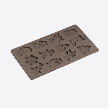 Lurch Flexiform bakvorm voor 12 koekjes in winterthema 17x30cm
