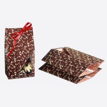 Kaiser geschenkdoos van 3 stuks voor pralines blad bruin
