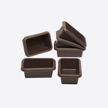 Lurch Flexiform set van 6 mini-broodvormen uit silicone 11x7.5cm