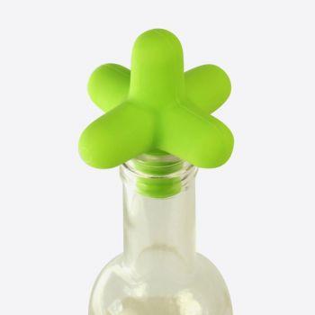 Cookut Spark flessenstop uit silicone groen 5x5x5cm
