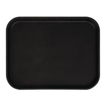 Cambro Camtread rechthoekig antislip glasvezel dienblad zwart 45.7cm