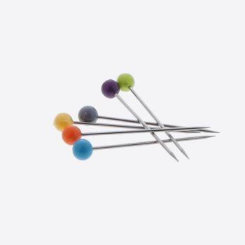 Jean Dubost set van 6 prikkers voor kreukels uit rvs