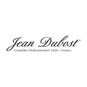 Jean Dubost set van 6 Laguiole koffielepels uit rvs taupe