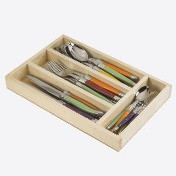 Jean Dubost Trendy besteklade met 24 delig bestek multicolor