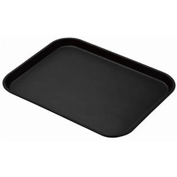 Cambro Treadlite rechthoekig antislip glasvezel dienblad zwart 45.7x35.5cm