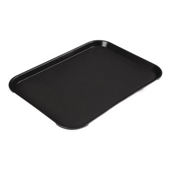 Cambro polypropyleen fastfood dienblad zwart 41x30cm