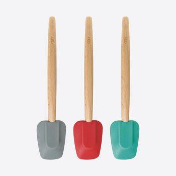Dotz pannenlikker met beuken handvat rood; gr. of aquab. 31cm (12st./disp.)