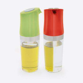 Dotz 2-in-1 olie- en azijnfles groen of rood 180ml (8st./disp.)