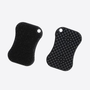 Dotz schuurspons uit silicone donkergrijs 12x8cm