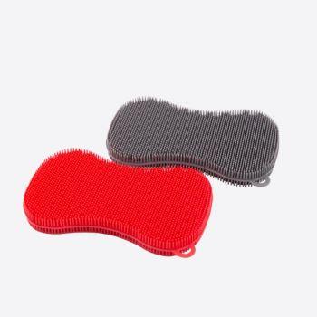 Dotz schuurspons uit silicone grijs of rood 13x8cm (24st./disp.)