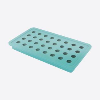 Dotz ijsblokjesvorm uit silicone voor 32 ijsparels aquablauw ø 1.8cm
