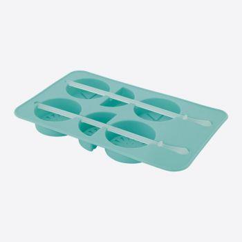 Dotz ijsblokjesvorm uit silicone fruit aquablauw 11.5x8.5x1.5cm
