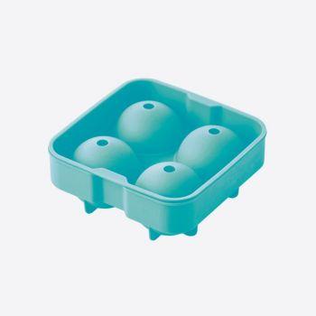 Dotz ijsballenvorm uit silicone voor 4 ijsballen aquablauw ø 4.5cm