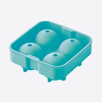 Dotz ijsballenvorm uit silicone voor 4 ijsballen aquablauw ø 6cm
