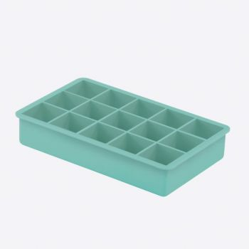 Dotz ijsblokjesvorm uit silicone kubus aquablauw 3.3x3.3x3.3cm
