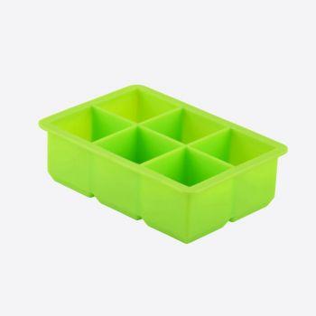 Dotz ijsblokjesvorm uit silicone kubus groen 4.8x4.8x4.8cm