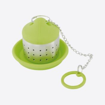 Dotz thee infuser uit rvs en silicone groen 4x4x4.5cm