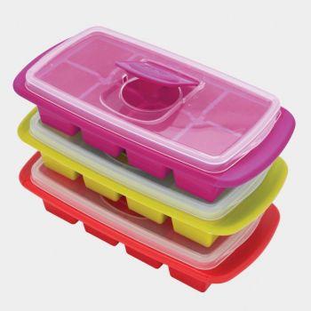 Joie ijsblokjesvorm met deksel voor 8 grote ijsblokjes 25x12.7x6cm (12 ass.)