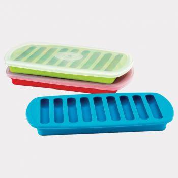 Joie ijsblokjesvorm met deksel voor 9 ijssticks rood; groen of blauw (12 ass.)