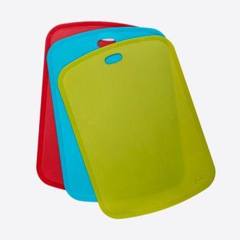 Joie set van 3 snijmatten uit kunststof groen; blauw en rood 19x35.5x1.8cm