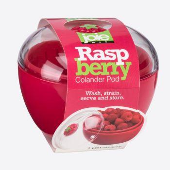 Joie Raspberry voorraaddoos met vergiet uit kunststof rood ø 12cm H 10.2cm