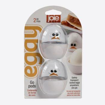 Joie Eggy set van 2 bewaardoosjes voor een ei wit ø 5.5cm H 6.6cm