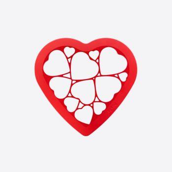 Lékué uitsteekvorm uit ABS voor 12 koekjes - hartjes