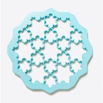 Lékué uitsteekvorm uit ABS voor 19 koekjes - sneeuwvlokken