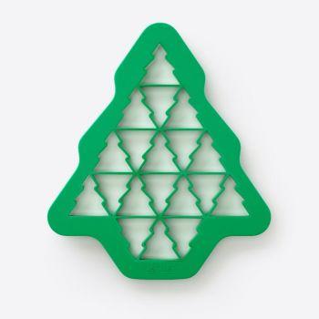 Lékué uitsteekvorm uit kunststof voor 19 kerstbomen groen 23.5x27x1.5cm