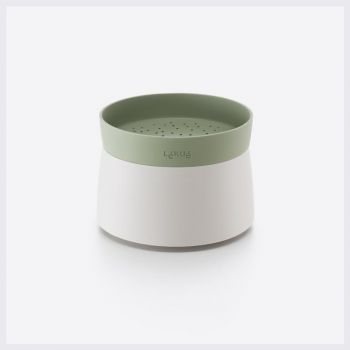 Lékué rijst- & quinoakoker voor magnetron wit en groen Ø 13cm H 17.8cm