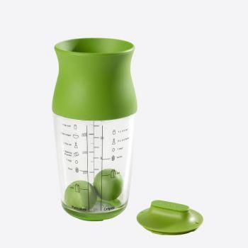 Lékué shaker voor beslag of room uit silicone en Tritan groen 700ml