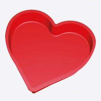 Lékué bakvorm uit silicone rood - hart 22.5x21x4.2cm