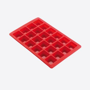 Lékué bakvorm uit silicone voor 24 mini brownies rood 29x18.6x2cm