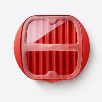 Lékué magnetron bord voor spek uit kunststof rood 25x27.7x6.8cm (6st./disp.)