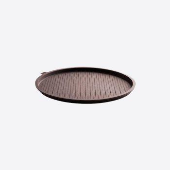 Lékué ronde pizzavorm met gaatjes uit silicone bruin Ø 36cm H 1.7cm
