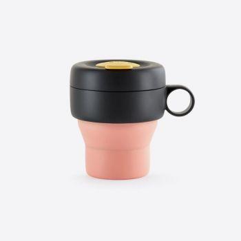 Lékué Mug To Go vouwbare reisbeker uit silicone koraal 350ml
