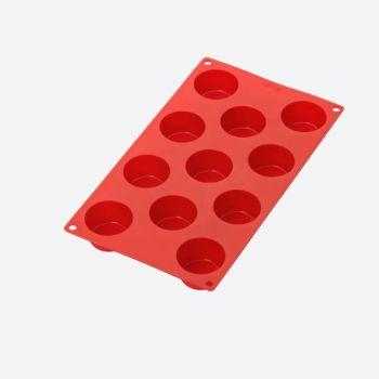 Lékué bakvorm uit silicone voor 11 muffins rood Ø 5.3cm H 3cm