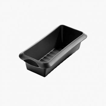 Lékué rechthoekige cakevorm uit silicone zwart 24x10x6.8cm