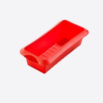 Lékué rechthoekige cakevorm uit silicone rood 24x10x6.8cm