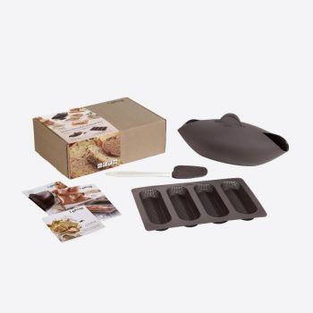 Lékué 4-delige broodbak set voor 4 stokbroden uit silicone