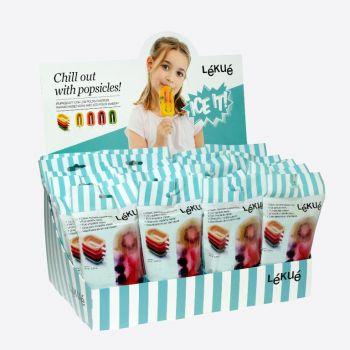 Lékué mini ijsjesvorm rood; oranje; geel of groen 10.5x6.5x2.6cm (24st./disp.)