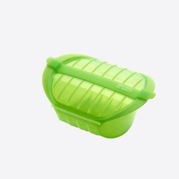 Lékué magnetron stomer voor 1-2 personen uit silicone groen 21.2x15.5x8.5cm