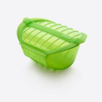 Lékué magnetron stomer voor 3-4 personen uit silicone groen 26x19x11.5cm