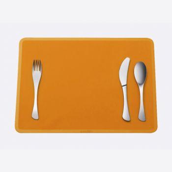 Omami 3-delig bestek & placemat oranje (12st./disp.)