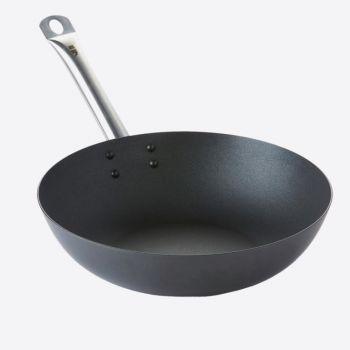 Point-Virgule wok uit carbonstaal met Excalibur antikleeflaag ø 30cm